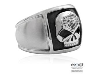 MOD Steel Skull Cigar Band Ring