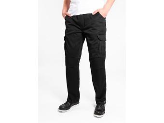 Cargo Black Regular Aramid Motorrad Jeans