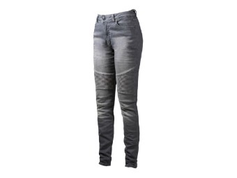 Betty Biker XTM Light Grey Motorrad Jeans