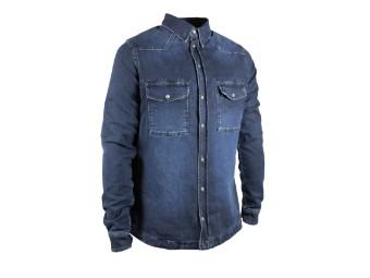 Motoshirt Dark Blue Motorrad Hemd Jacke