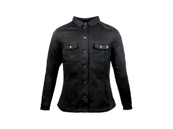 Motoshirt Women Black XTM Lumberjack Damen Aramid Hemd