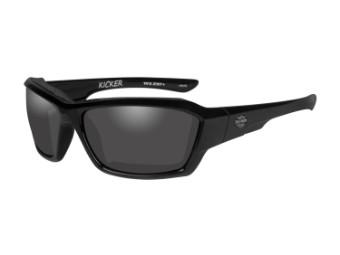 Wiley X Kicker Smoke Grey Motorrad Brille