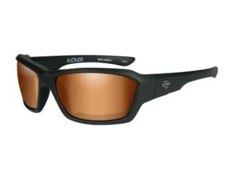 Wiley X Kicker Bronze Flash Motorrad Brille