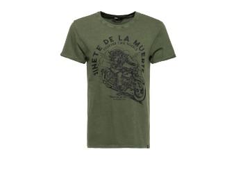 Junete de la Muerte Olivine Acidwash T-Shirt