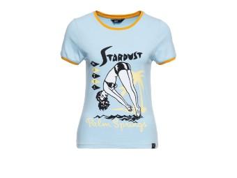 Stardust Sky Blue Contrast Damen T-Shirt