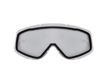 Ersatzvisier für E15 & E16 Crossbrillen - Klar Doppelscheibe