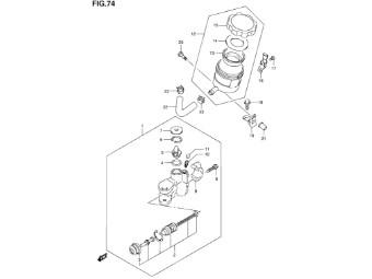 Schafftschraube Bremsflüssigkeitsb. Befestigung Suzuki