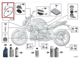 Ventildeckeldichtung Satz links BMW LC Modelle