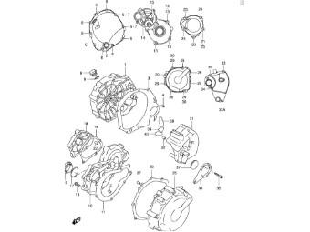 Freilaufdeckel GSX-R600/750 `96-05 GSX-R1000 `01-06