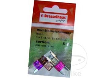 Flachsicherung Mini Sortiment 2 - 7,5 A, Inhalt 5 Stück