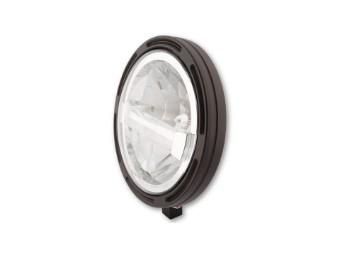 HIGHSIDER 7 Zoll LED-Hauptscheinwer fer FRAME-R1 Typ 4, schwa