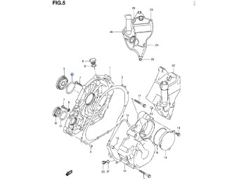 Lichtmaschinendeckeldichtung GSX-R 600/750 `06-