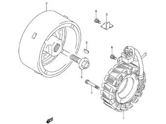 Lichtmaschinenrotor DL1000 `03-09