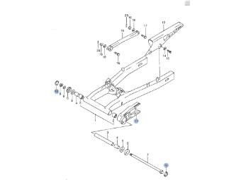 Abdeckkappe Schwingendrehachse GSX 600/750 F `88-06
