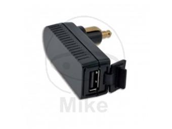 12V > USB Winkeladapter BMW Steckdose ISO 4165