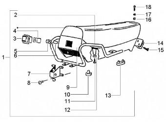 Sitzbank PKXL2/FL/HP/Automatic o.Schloß, mit Halteriemen