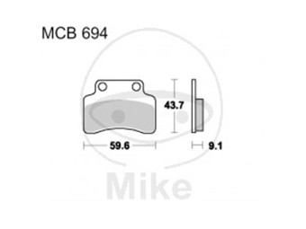 Bremsbeläge Lucas TRW-Moto Typ > MCB694 EC
