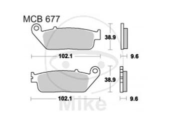 Bremsbeläge Lucas TRW-Moto Typ > MCB677