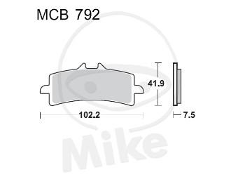 §-Bremsbeläge Lucas TRW-Moto Typ > MCB792 CRQ GSX-R600/750 `11-