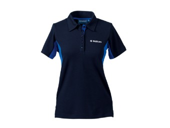 Team Polo Shirt Damen blau/dunkelblau