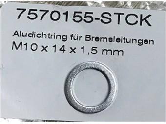 Alu - Dichtring für Bremsleitungen