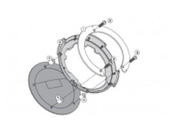 Tanklock Tankbefestigungsring für Tankrucksäcke Honda VFR 800 X