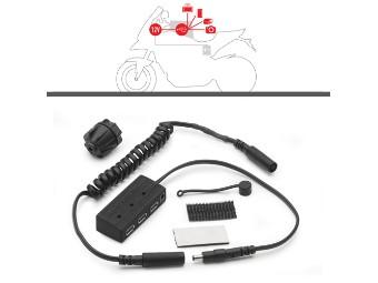 Power USB HUB 12V mit Befestigungsm aterial, Kabel-Buchse un