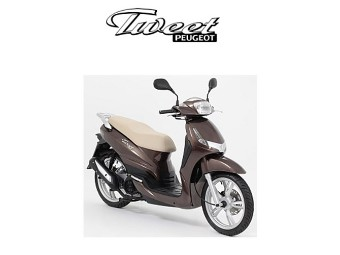 Komfort Kit Triple Peugeot Tweet Topcase + Winschild + Rückenstütze