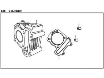 Zylinderfussdichtung Sym Symply 50 4T (papier)