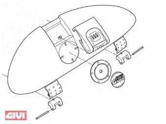 Scharnier für Kofferdeckel E 410 Keyless