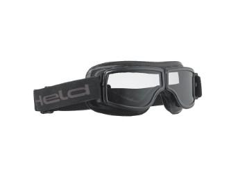Motorradbrille Held schwarz