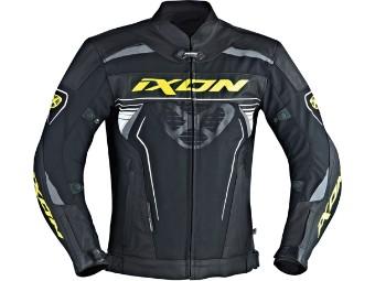 Lederjacke IXON Frantic schwarz-gelb