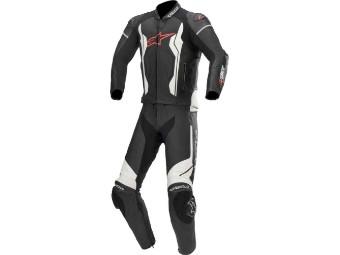 GP Force Motorradkombi 2tlg. black-white