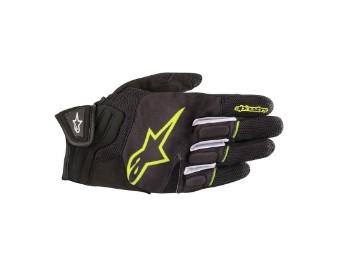 Handschuh Atom schwarz-neongelb