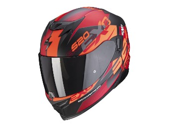 Integralhelm Scorpion EXO 520 Air Cover matt-schwarz-rot