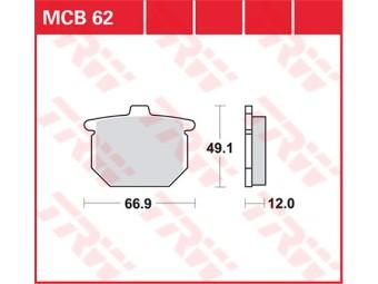 Scheibenbremsbeläge organisch TRW / LUCAS MCB 62