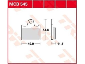 Scheibenbremsbeläge organisch TRW / LUCAS MCB 545 LF