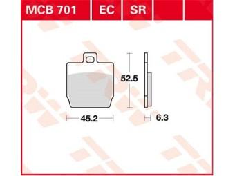 Scheibenbremsbeläge organisch TRW / LUCAS MCB 701 LF