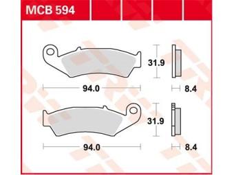 Scheibenbremsbeläge organisch TRW / LUCAS MCB 594 LF
