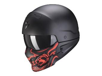 Streetfighter Helm Scorpion EXO-Combat Evo Samurai mattschwarz-rot