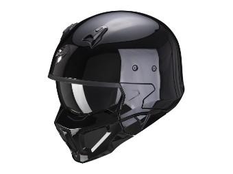 Streetfighter Helm Scorpion Convert-X Solid schwarz
