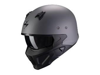 Streetfighter Helm Scorpion Convert-X Solid matt-zementgrau
