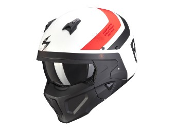 Streetfighter Helm Scorpion Convert-X T-Rust matt-weiss-rot