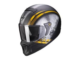 Streetfighter Helm Scorpion EXO-HX1 Ohno schwarz-matt-gold