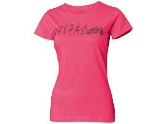 Damen T-Shirt Evolutia pink