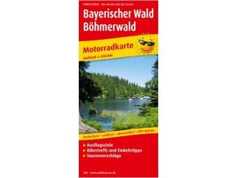 Motorradkarte BAYRISCHER WALD - BÖHMERWALD