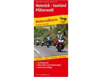 Motorradkarte HUNSRÜCK-SAARLAND-PFÄLZERWALD