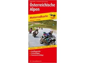 Motorradkarte ÖSTERREICHISCHE ALPEN