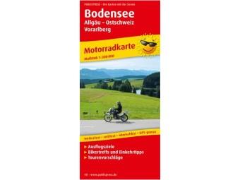 Motorradkarte BODENSEE-ALLGÄU-OSTSCHWEIZ-VORARLBERG