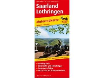 Motorradkarte SAARLAND-LOTHRINGEN